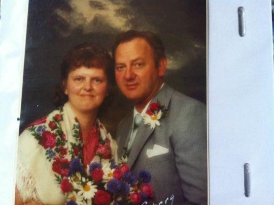 mina föräldrars bröllopsfoto