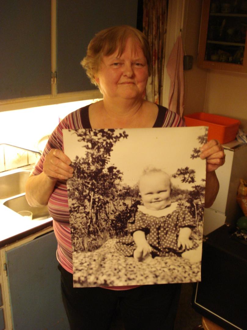 min mamma som bebis och 63 år senare