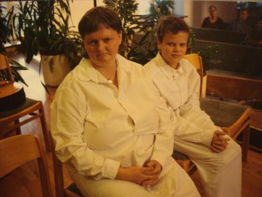 jag och mamma vuxendöps