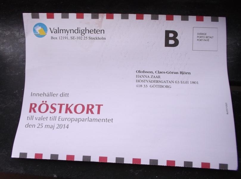 mitt röstkort