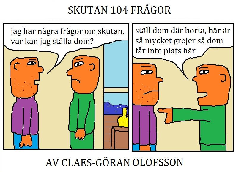 SKUTAN 104 FRÅGOR